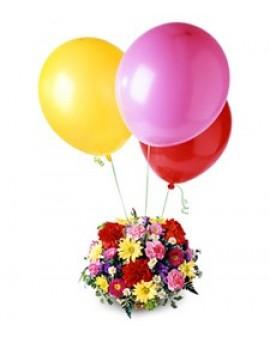 Ikebana sa 3 balona