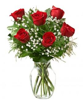 Ruže i gipsofila