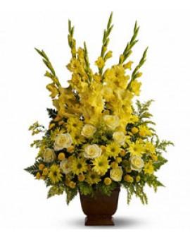 Žuta ikebana